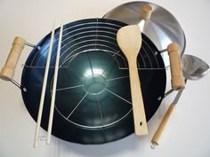 8 Pc 14 in. Double Handle Wok Set - Taylor and Ng *** To view further for this item, visit the image link.