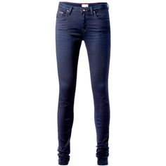 Tommy Hilfiger Nora jeans ($65) ❤ liked on Polyvore featuring jeans, pants, bottoms, calças, clearance, denim dark wash, lightweight jeans, dark denim skinny jeans, blue skinny jeans and dark-wash jeans
