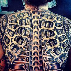 kayabi tribe tattoos - Google zoeken Tribal Back Tattoos, Full Back Tattoos, Back Tattoos For Guys, Weird Tattoos, Top Tattoos, Sleeve Tattoos, Awesome Tattoos, Tattoo Designs For Women, Tatto Designs