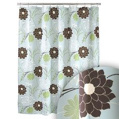 M. Style Harmony Blue Shower Curtain