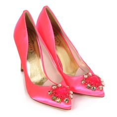 b292edd62 Stand out from the crowd in these Ted Baker Torela Bright Pink Heels this  season. Bright Pink HeelsTed Baker WomensJeweled SandalsRhinestone ShoesCourt  ...