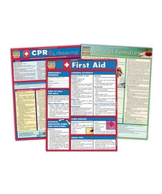 Look at this First Aid, CPR & Life Saving Natural Remedies Reference Chart Set on #zulily today!