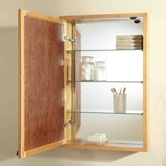 Glass Shelves For Medicine Cabinet Glass Shelves Wood Bathroom with regard to dimensions 1005 X 1005 Bathroom Cabinet Glass Shelves - With the improvement Wooden Bathroom Mirror, Wood Bathroom Cabinets, Bamboo Cabinets, Glass Shelves In Bathroom, Mirror Cabinets, Glass Bathroom, Diy Cabinets, Bathroom Furniture, Bathroom Ideas