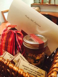 Customized Tour Basket the night before at adventure with Ka'ana Boutique Resort, Belize