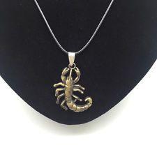 Unique Jewelry - Men's Fashion Jewelry Scorpion Bronze Pendant Black Leather Necklace Gift NEW #5
