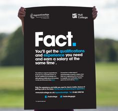 apprenticeship poster   Awareness campaign for Hull College   Our Work   Sowden & Sowden