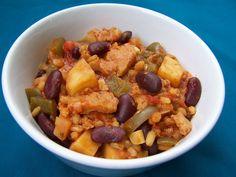 Jambalaya, seitan, vegetarisch, veganistisch, plantaardig