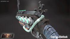 ArtStation - Energy Flintlock for Fallout Jacob Becker Fallout Weapons, Sci Fi Weapons, Apocalypse World, Larp, Firearms, Artwork, College, Engineer, Aviation