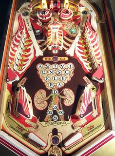 Howie Tsui - Musketball anatomical pinball machine