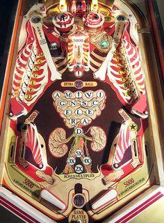 Howie Tsui - Musketball anatomical pinball machine
