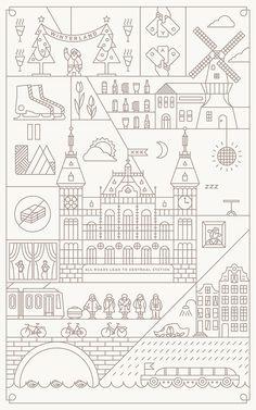 All Roads Lead to Centraal Station by Dan Zhou, via Behance