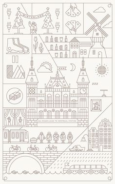 All Roads Lead to Centraal Station by Dan Zhou, via Behance