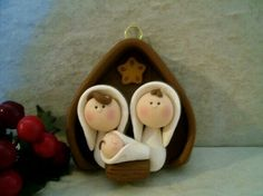Nativity Christmas Ornament by countrycupboardclay on Etsy Nativity Ornaments, Nativity Crafts, Christmas Nativity, Christmas Ornaments, Nativity Scenes, Xmas, Polymer Clay Ornaments, Polymer Clay Projects, Polymer Clay Creations