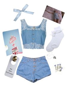 """""""Blue nymph"""" by daddys-cutie on Polyvore featuring beauty and Topshop"""