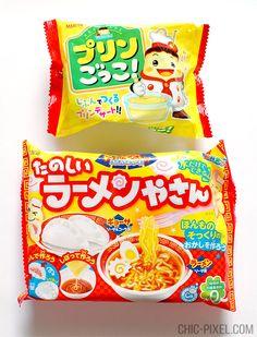 Pop'n Cookin' ramen and pudding DIY candy kits | Oyatsu Cha Cha Cha Japanese snack subscription box