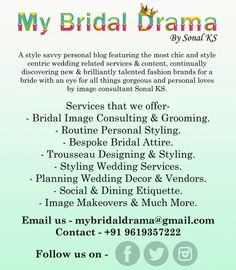 A one stop solution to all ur needs for getting ready for the big day...