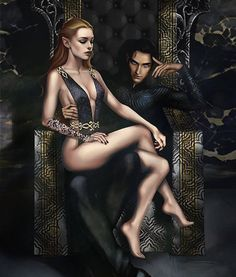 Happy valentines day guys 😁😁 most of you guys know what scene is this art from. Cuz you asked for it countless times. Honestly I hated this scene.😅 Especially her sitting and acting like a sex slave. Hope you guys will like the art. A Court Of Wings And Ruin, A Court Of Mist And Fury, Charlie Bowater, Feyre And Rhysand, Sarah J Maas Books, Throne Of Glass Series, Fandoms, Crescent City, Happy Valentines Day