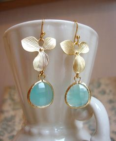 #aqua earrings ... so cool for Spring  Earrings #2dayslook #new #Earrings #fashion #nice  www.2dayslook.com