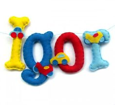 Duże literki z filcu - Igor (proj. locoloro)