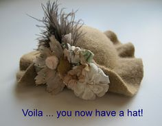 How to make molded wool felt hats for your bears or dolls