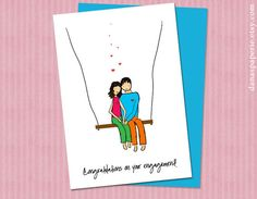 Hand-drawn engagement card