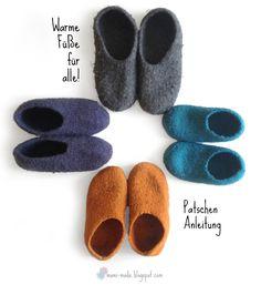 Make felt pats yourself- Filzpatschen selber machen Make felt pats yourself - Diy Gifts To Sell, Crafts To Sell, Diy And Crafts, Felt Patterns, Knitting Patterns, Crochet Patterns, Crafts For Teens To Make, Diy For Teens, Dollar Store Crafts