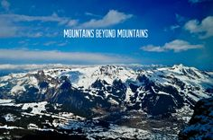 Let mountains be on mountains.