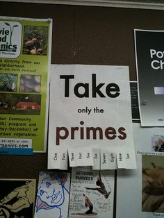 Take only the primes