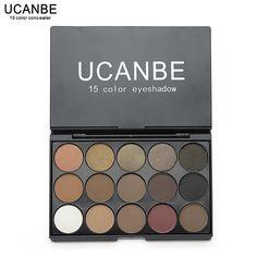 5 Nueva moda 15 Color de Tierra Mate Pigmento Paleta de Sombra de ojos Maquillaje Cosmético Sombra de Ojos para las mujeres cosméticos conjunto