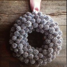 Sweet Gum tree seed pod wreath! We found these seeds @ Lynnae's back yard and are inspired.