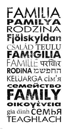 Family Languages by Veruca Salt