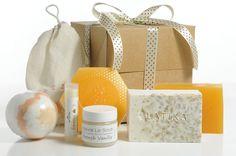 Mothers day gift!  $39 A beautiful box with Milk & Honey beauty products:  Natural Lip balm, Lip scrub, Oatmeal soap, Saffron& Honey soap, Bath bomb, Beehive soap.   Handmade in the USA www.latikasoap.com