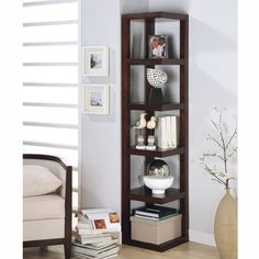 Corner shelf unit.