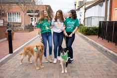 St. Patrick's Day Photo Ideas With Dog, Dog Photo Ideas, Best Friend Photo Ideas, Girls With Dog Photo, Girl and Dog, Dog Mama, Dog Mom, In Dog Beers Shirt, Cute Dog Mom Shirt, St. Patrick's Dog Bandanas, Dog Bandana, Handmade Dog Bandana, Tails Up Pup, Tailsuppup
