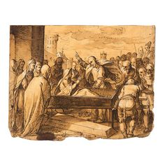 old master drawings ||| sotheby's am0863lot000202912470001000en  Hermann Weyer Coburg 1596-after 1621, Recto: THE RAISING OF LAZARUS; verso: LANDSCAPE...