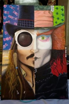 Oha bu seneki tuval çalışmam olacak hih Johnny Depp