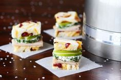 Turkey and Apple Goat Cheese Tea Sandwiches with Homemade Cranberry Orange Bread Recipe