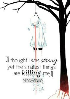 Pensé que era fuerte aunque las cosas más pequeñas me estuvieran matando. |Traducción ES: @sukigamer88|