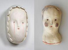 2 heads Ceramics by Bonnie Marie Smith.