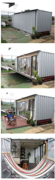 Shipping container foldable home