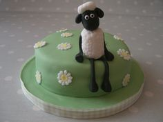 My Favorite Sheep Cake!!!!  Shaun the Sheep Birthday Cake by Anna'sCakes, via Flickr