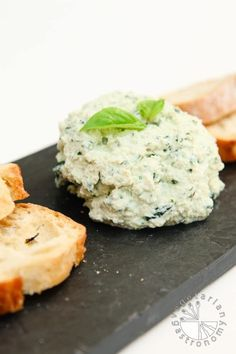 """This nut-free Garlic Basil Vegan Ricotta """"Cheese"""" Spread is so easy to make, healthy, and pairs great with so many dishes! Spread it on toast, use it in a sandwich, make a pasta dish with it, or simply enjoy it with a spoon...it's THAT good!"""