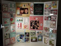 My Stampin' Up! Inspiration Display Board cards scrapbook non MDS birthday, Valentine, Christmas, baby, Undefined, secret garden, cycle celebration, all dressed up, festive flurry, Lacey and lovely. Display by Gloria Kremer