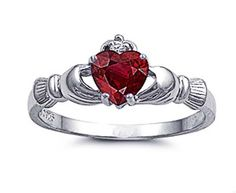 Little Treasures Rhodium Plated Sterling Silver Wedding & Engagement Ring Ruby CZ Claddagh Ring Little Treasures http://www.amazon.co.uk/dp/B00A81XRQA/ref=cm_sw_r_pi_dp_CrE7tb1SZZVSR