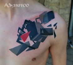 Awesome abstract tattoo by artist A.D. Pancho.