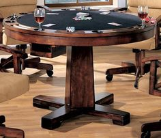 3 In 1 Modern Poker Bumper Pool Dining Table Set