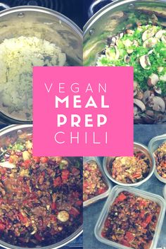 Chili for vegan meal prep. Easy and low cost.