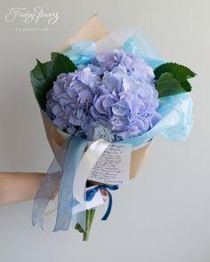 Blue hydrangea. Голубая гортензия.