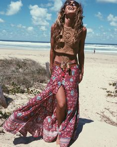 """Spell Designs no Instagram: """"It's the weekend ~ throw your head back lovers @anita_ghise beach'n in our Twiggy crochet top + Folk Town {wow!} skirt!! ❥"""""""