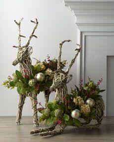 """-3XVF """"Joyeux Noel"""" Vine Reindeer"""